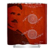 Nikola Tesla Patent From 1886 Shower Curtain