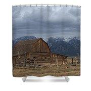 North Moulton Barn Grand Tetons Shower Curtain