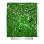 Nuremberg Street Map - Nuremberg Germany Road Map Art On Colored Shower Curtain