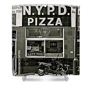 N.y.p.d. Pizza Shower Curtain