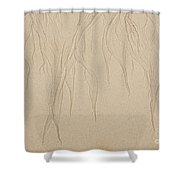 Ocean Sand Art Design From Top Shower Curtain