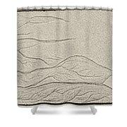 Ocean Sand Art Shower Curtain