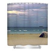 Ocean View 1 - Miami Beach - Florida Shower Curtain
