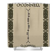 O'connell Written In Ogham Shower Curtain