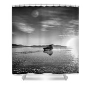 Off Road Uyuni Salt Flat Tour Select Focus Shower Curtain