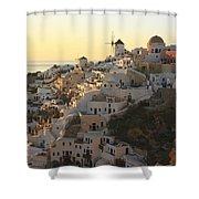 Oia At Sunset Santorini Cyclades Greece  Shower Curtain