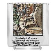 Oil Press, 1568 Shower Curtain