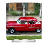 Red Bel Air Shower Curtain