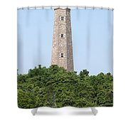 Old Cape Henry Lighthouse Shower Curtain