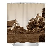 Old Field Point Lighthouse Shower Curtain