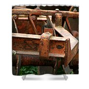 Old Mowing Machine Shower Curtain