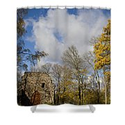 Old Sigulda Castle Ruins Shower Curtain