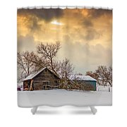 On A Winter Day Shower Curtain
