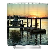On The Waterfront Shower Curtain