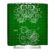 Optical Refractor Patent 1985 - Green Shower Curtain