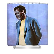 Otis Redding Painting Shower Curtain