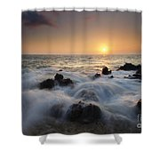 Over The Rocks Shower Curtain