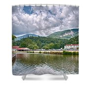 Overlooking Chimney Rock And Lake Lure Shower Curtain