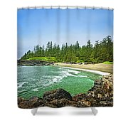 Pacific Ocean Coast On Vancouver Island Shower Curtain