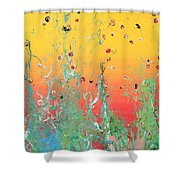 Paint Number Ninteen Diptych Shower Curtain