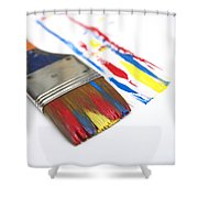 Paintbrush Shower Curtain by Bernard Jaubert
