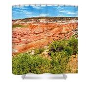 Painted Desert National Park Panorama Shower Curtain