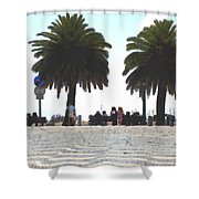 Palm Mirage Shower Curtain