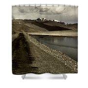 Pamir Highway Shower Curtain