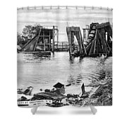 Panama Canal French Work Shower Curtain