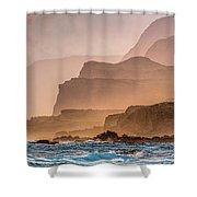 Panoramic Of Molokais North Shore Sea Shower Curtain