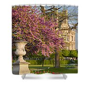 Paris Springtime Shower Curtain