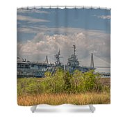 Patriots Point Maritime Shower Curtain