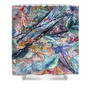 Pattern Of Leaves Shower Curtain