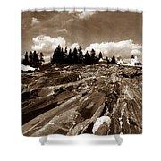 Pemaquid Rocks Shower Curtain by Skip Willits