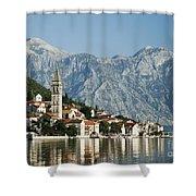 Perast In Kotor Bay Montenegro Shower Curtain