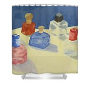 Perfume Bottles Shower Curtain