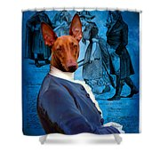 Pharaoh Hound Art Canvas Print Shower Curtain