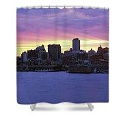 Philadelphia Skyline At Dusk Shower Curtain