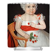 Phillips' The Strawberry Girl Shower Curtain