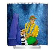 Piano Man Shower Curtain by Pamela Allegretto