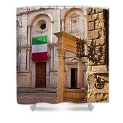 Pienza Tuscany Shower Curtain