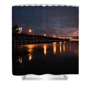Pier In The Pacific Ocean At Dusk, San Shower Curtain