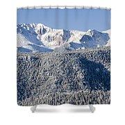 Pikes Peak Snow Shower Curtain