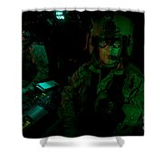 Pilots Equipped With Night Vision Shower Curtain