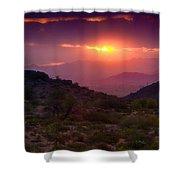 Pink Desert Skies  Shower Curtain