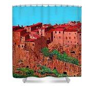 Pitigliano Village Shower Curtain