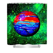 Planet Disector Red 1 Shower Curtain