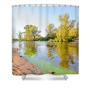 Plants And Trees Close To The River Shower Curtain