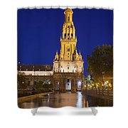 Plaza De Espana Tower In Seville Shower Curtain