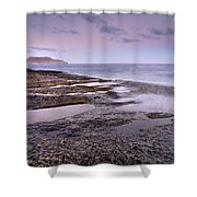 Plomo Beach Shower Curtain